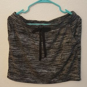 NWT Loft Adorable Grey& Black Sweater Skirt